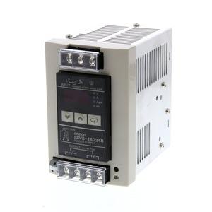 S8VS-18024B, Schaltnetzteil, 180 W, 100 bis 240 VAC Eingang, 24 VDC 7,5 A Ausgang, DIN-Schienenmontage, mit Digitalanzeige, NPN
