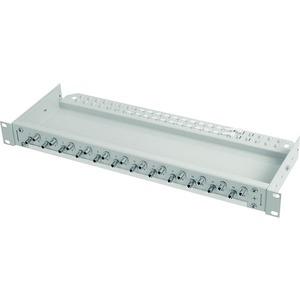 ECONOMY V 1 HE Rangierverteiler mit eingebauten Kupplungen/Adaptern 12xSC Duplex Kupplung