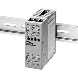 K3SC-10 24VAC/DC, Kommunikationskonverter, RS-232C/USB-auf-RS-422/RS-485, für DIN-Schienenmontage oder direkte Tafelmontage, LED-Betriebsanzeige zur schnellen Referenz,