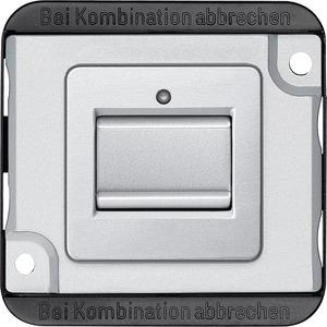 Kreuzschalter-Eins., 1-polig, 10 AX, AC 250 V, mattsilber, PANZER, Steckklemmen