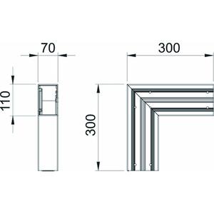 GK-F70110RW, Flachwinkel 70x110mm, PVC, reinweiß, RAL 9010