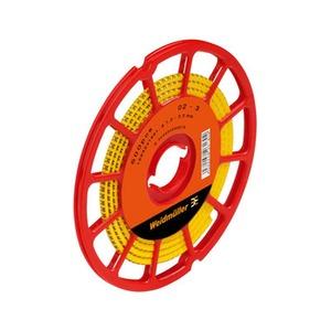 CLI C 02-6 GE/SW L3 CD, Kabelmarkierungssystem, 1.3 - 3 mm, 3.4 mm, Aufgedruckte Zeichen: gemischte Zeichen, L3, PVC, weich, ohne Cadmium, gelb