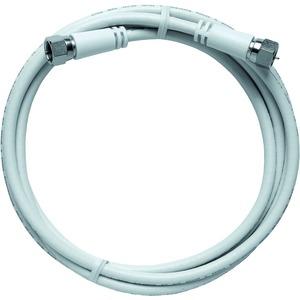 Modem-Kabel, axiale F-Stecker, doppelt geschirmt, 1,5 m, weiß