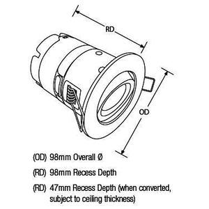 AU-MPRO4SN/40, mPro™ IP65 7W LED Universal Downlight Dimmbar Schwenkbar