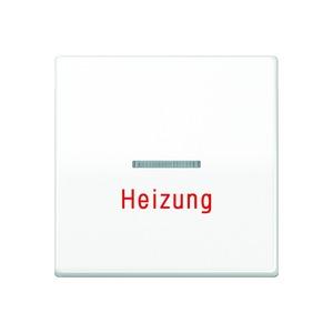 AS 591 HBF WW, Wippe, Linse, Lichtleiter, Aufschrift Heizung, Zentralplatte, bruchsicher, für Wipp-Kontrollsch., Tast-Kontrollsch. und beleucht. Taster