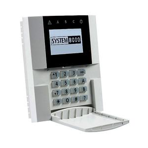 8001F, Funk-Bedienteil (Keypad) mit LCD-Display und RFID-kartenleser, System 8000