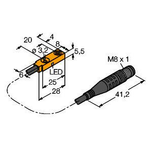 BI2-Q5.5-AP6X-0.3-PSG3M, Induktiver Sensor, Standard