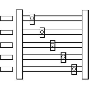 Sammelschienen-Bausatz 5-polig 250A