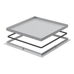 RK V3 20, Rahmenkassette blind 383x383x20, V2A, 1.4301