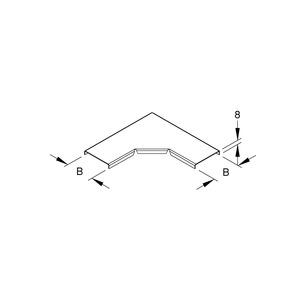 RESKD 100, Deckel für Bogen 90° für Mini-Kabelrinne, Breite 104 mm, Stahl, bandverzinkt DIN EN 10346