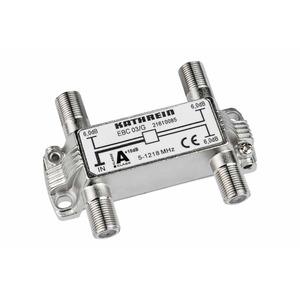 EBC 03/G Verteiler 3fach 6 dB 5-1218 MHz, EBC 03/G Verteiler 3fach 6 dB 5-1218 MHz