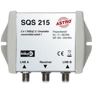 SQS 215, DiSEqC Positionsumschalter, Diseqc 2.1, Uncommitted 1, Ansteuerung von mehr als vier Satelliten im Verbund mit SQS 211