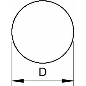 AF RD 10 V4A, Anschlussfahne gerichtet 2000mm, V4A, 1.4571/1.4404