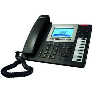 T 19 SIP schwarz, schnurgeb. SIP Telefon, Anschluss LAN