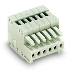 1-Leiter-Federleiste 100% FEHLSTECKGESCHÜTZT direkt bedruckt 0,5 mm² Rastermaß 2,5 mm 12-polig 0,50 mm2 lichtgrau