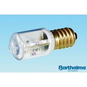 LED Rundum 360° rot 16 230V AC/DC 1,6W E14 18,5x45mm