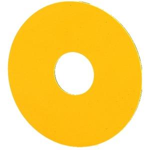 SR-GE, NOT-AUS-Schild, unbeschriftet, gelb, rund ø 60 mm, nicht gravierbar, Frontabmessung 25 x 25 mm