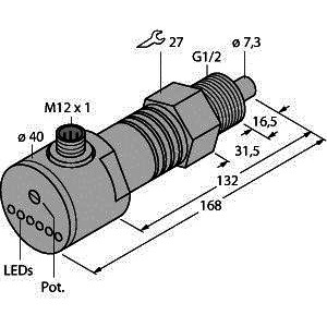 FCS-GL1/2A4-AP8X-H1141/D090, Strömungsüberwachung, Eintauchsensor mit integrierter Auswerteelektronik