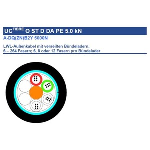 A-DQ(ZN)B2Y 2x12E9/125 5000N, A-DQ(ZN)B2Y 2x12E9/125 5000N LWL Aussenkabel mit 24 Fasern OS2 single