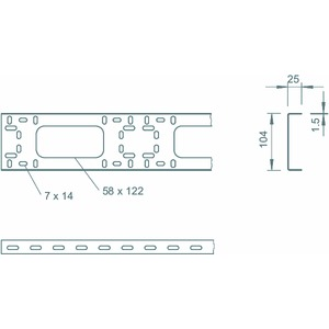 BKK 104 FT, BKK-Grundprofil 25x104x3000, St, FT