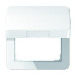 CD 590 KL WW, Klappdeckel, für Steckdosen und Geräte mit Abdeckung 50 x 50 mm
