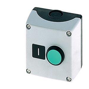 3SB3801-2DA3, Geh. für Befehlsgeräte, 22mm, rund Gehäusematerial Metall, Gehäuseoberteil grau