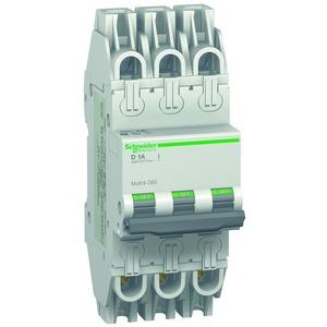 Leitungsschutzschalter C60, UL489, 3P, 1A, D Charakt., 480Y/277V AC