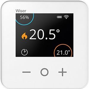 Wiser RT, Wiser Heat Raumthermostat, Batteriebetrieben 2x1,5V Mignon