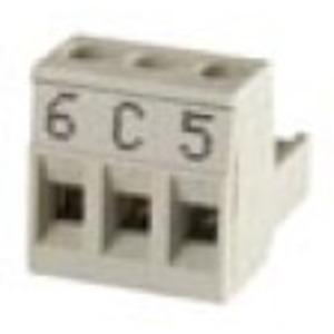 ZN1AC-3S-508, Zennio Steckverbinder (DOSE) 3 POLIG 2,5mm SCHRITT 5,08 BESCHRIFTET (ACTinBOX MAX6)