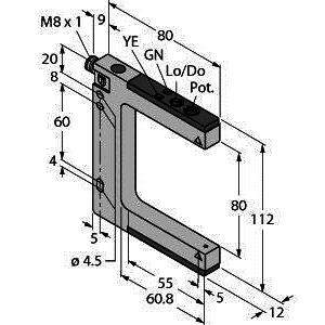 SLM80P6Q, Opto-Sensor, Gabellichtschranke