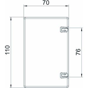 BSKM 0711, Brandschutzkanal I30 bis I120 mit Innenbeschichtung 70x110x2000, St, FS