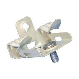 EM24SM, Flanschklipp zum Aufschlagen, Montage an der Unterseite mit Gewindestift, Federstahl, 3–8 mm (1/8–1/4) Flansch, 11 mm Schraube