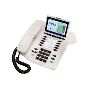 ST 45 AB reinweiß, Systemtelefon inkl. Anrufbeantworter für Anlagen mit S0- und UP0-Schnittstelle