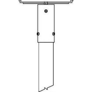 TRAV 1/76, Überstecktraverse für 1 Fluter 300mm lang Typ Traverse 1/76