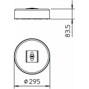 TrayFix-10-L, Rinnenbefestigungs-Set inklusiv FangFix-Stein 295x295x84