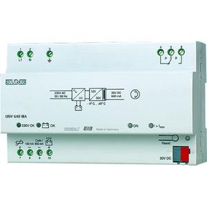 USV 640 MA, Unterbrechungsfreie EIB Spannungsversorgung 640 mA mit intergrieter Drossel, 8TE
