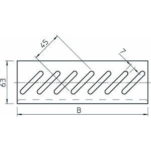 BEB 300 DD, Bodenendblech für Kabelrinne B300mm, St, DD