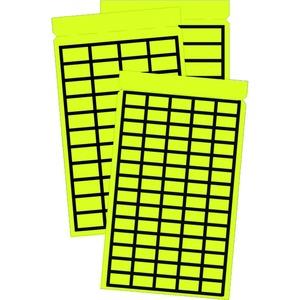 PBL-0915R, Etikett, gelbes Gewebe mit sw Rand, Taschenbuch 9x15mm, Preis per VPE  VPE =1