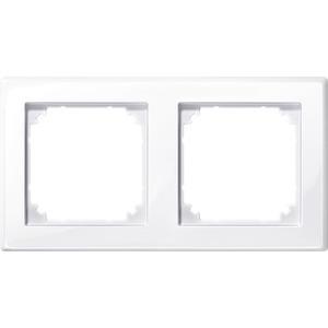 M-SMART-Rahmen, 2fach, aktivweiß glänzend