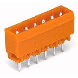 THT-Stiftleiste Lötstift 1,0 x 1,0 mm gerade Rastermaß 5,08 mm 2-polig orange