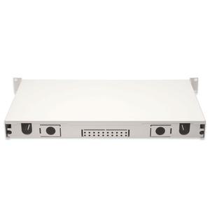 E-2000 Spleißbox, Diamond 24xE2000 (APC) bestückt, Spleisskassette