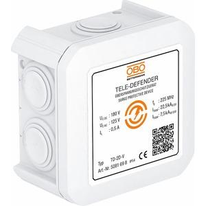 TD-2D-V, Kombischutzgerät für Telekommunikation 180V, weiß