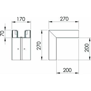 GK-A70170CW, Außeneck 70x170mm, PVC, cremeweiß, RAL 9001