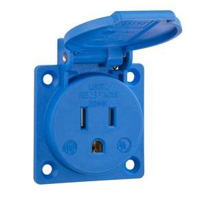 Einbausteckdose USA / Kanada, blau, 125 V/15 A