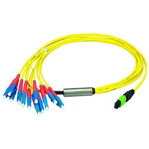 MPO/MTP® APC Aufteilkabel OS2, 12x LC/PC, 3 m