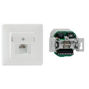 PoE-Injector 48 V Up rw, Up-PoE-Injector, Netzwerkanschluss über Schraubklemmen, Datenrate 10/100/1000 Mbit/s, PoE Leistung 15,4 W (Klasse 0 - 3), reinweiß (ähnlich RAL 9010)