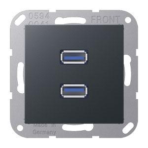MA A 1153 ANM, 2 x USB, Tragring, Schraubbefestigung, bruchsicher
