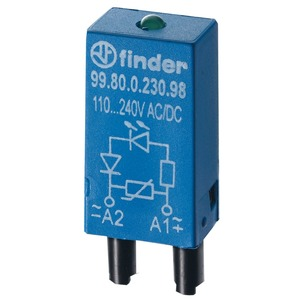 99.80.0.024.98, Modul, Varistor und grüne LED, 6 bis 24 V AC/DC