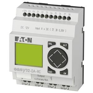 EASY512-DA-RC, Steuerrelais, 12VDC, 8DI(2AI), 4DO-Relais, Display, Uhr