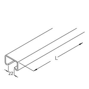 A 2-60B, Profilschiene ungelocht 50/31X3,25